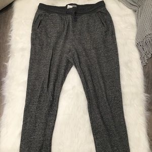 Express Gray Drawstring Casual Comfy Sweatpants